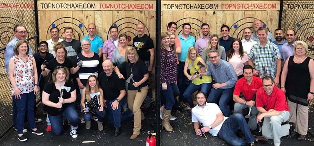 Team Building at Top Notch Axe Throwing