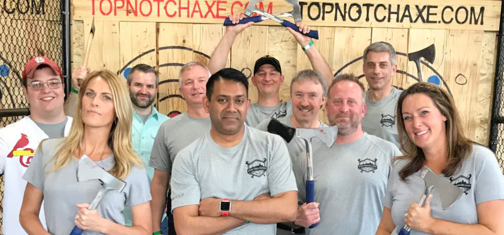 Top Notch Axe Throwing Corporate Party Venue