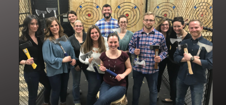 How to Host an Axe Throwing Party Featured Image