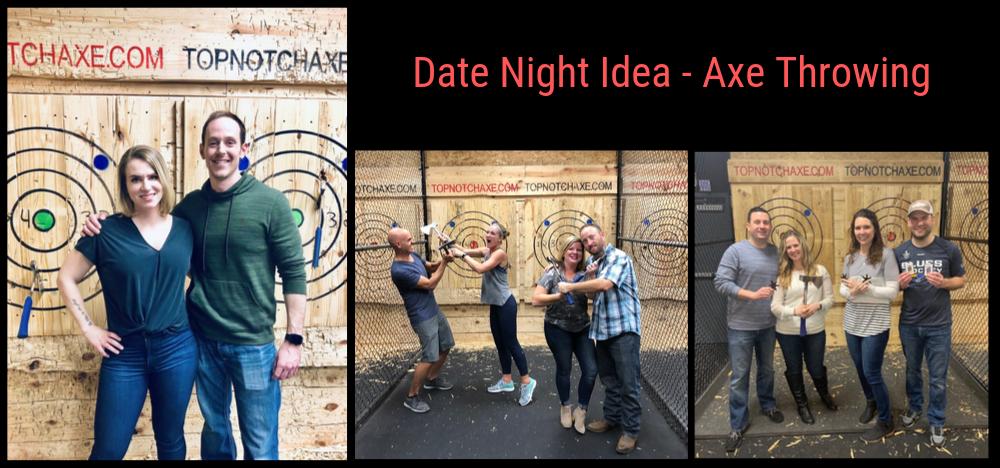 Date night ideas axe throwing