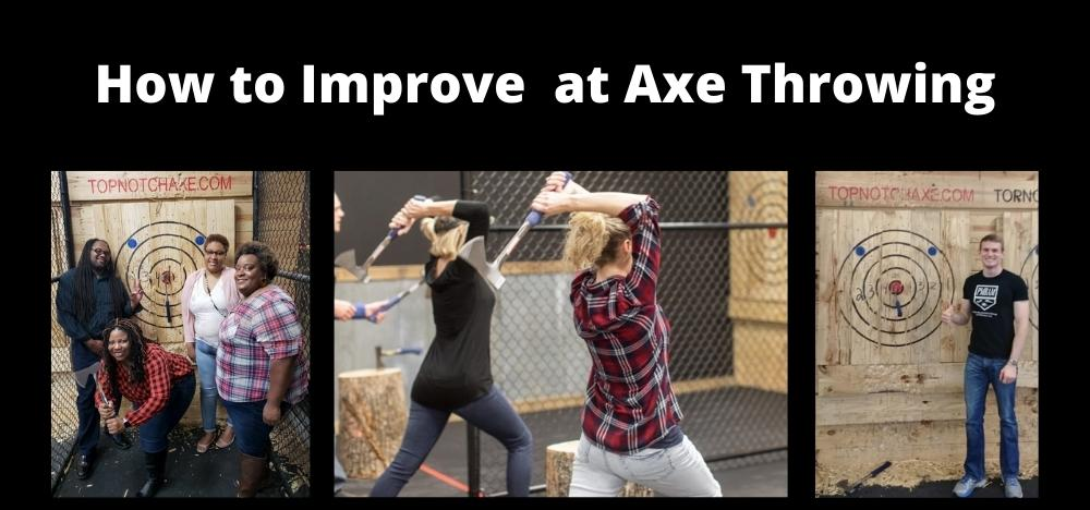 Photo of people throwing axes so they can improve their skill